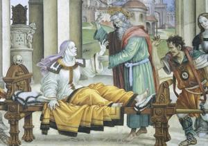 St John the Evangelist Resuscitating Drusiana, 1502 by Filippino Lippi