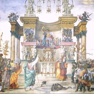 St Philip Driving Dragon from Temple of Hierapolis by Filippino Lippi