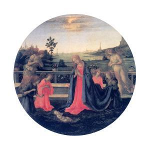 The Adoration, C1480s by Filippino Lippi