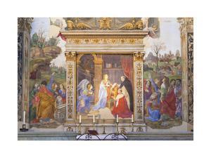 The Annunciation, Altarpiece of the Carafa Chapel, 1488-93 by Filippino Lippi