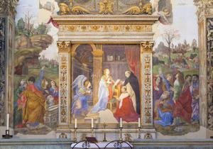 The Annunciation, Altarpiece of the Carafa Chapel, 1488-93 by Filippino Lippi