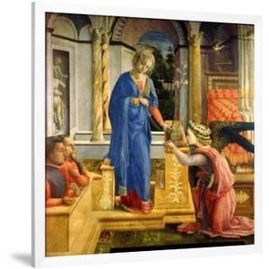 The Annunciation, Carafa Chapel, Santa Maria Sopra Minerva, Rome, 1488-93 by Filippino Lippi