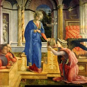 The Annunciation, Carafa Chapel, Santa Maria Sopra Minerva, Rome, 1488-93 by Filippino Lippi