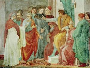 The Dispute with Simon Mago (Nero Enthroned), circa 1484-85 by Filippino Lippi