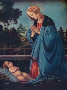 'The Madonna Adoring the Christ Child', 15th century, (1910) by Filippino Lippi