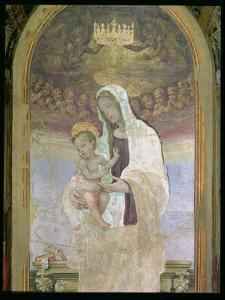 The Madonna and Child, a Detail from the Tabernacle of the Canto Al Mercatale, 1498 by Filippino Lippi