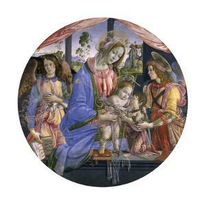 The Madonna and Child with the Infant St. John and Two Angels, Mid-1480s by Filippino Lippi