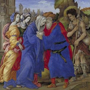 The Meeting of Joachim and Anne Outside the Golden Gate of Jerusalem, 1497 by Filippino Lippi