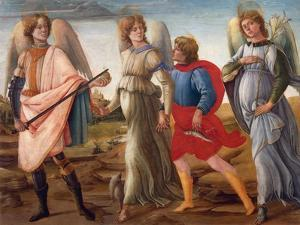 The Three Archangels and Tobias by Filippino Lippi