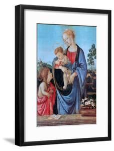 The Virgin and Child with Saint John, 1480 by Filippino Lippi