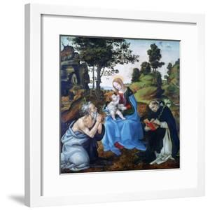 The Virgin and Child with Saints Jerome and Dominic, C1485 by Filippino Lippi