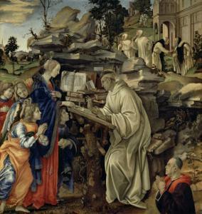 The Vision of St. Bernard, c.1485-87 by Filippino Lippi