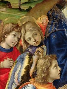 The Vision of St. Bernard, Detail of Three Angels, 1480 by Filippino Lippi