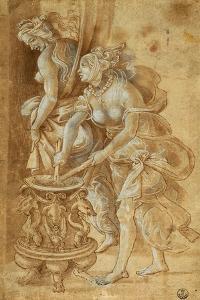 Two Female Figures by Filippino Lippi