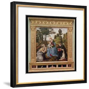 Virgin and Child with St. Jerome and St. Dominic (Oil and Tempera on Panel) by Filippino Lippi