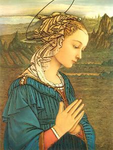 Virgin in Adoration (detail) by Filippino Lippi
