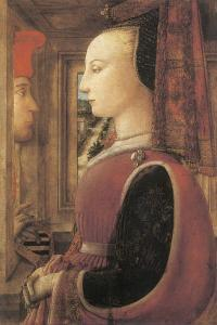 Woman with a Man at a Window by Filippino Lippi
