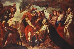 Coriolanus Persuaded by His Family to Raise the Siege of Rome, C.1660-61 by Filippo Abbiati