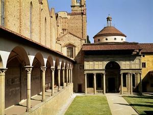 View of the Cloisters and the Pazzi Chapel, 1429-46 by Filippo Brunelleschi