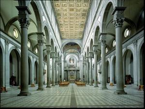 View of the Nave, 1425-46 by Filippo Brunelleschi