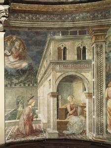 Annunciation, Detail from the Stories of the Virgin, 1467-1469 by Filippo Lippi