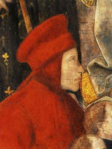Francis Datini, Detail of Madonna Del Ceppo, 1452-1453 by Filippo Lippi