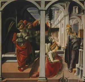 Martelli Annunciation by Filippo Lippi