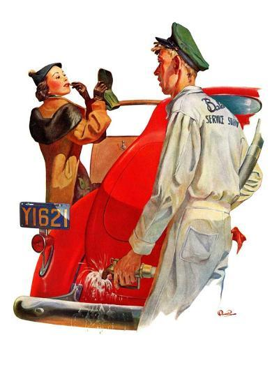 """Fill'er Up,""April 3, 1937-McCauley Conner-Giclee Print"