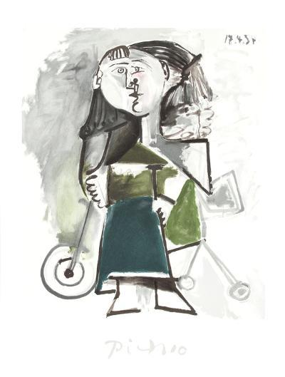 Fillette au Tricycle-Pablo Picasso-Collectable Print