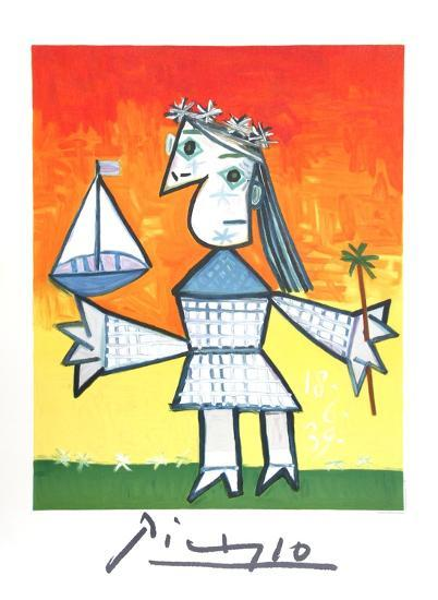 Fillette Couronee au Bateau-Pablo Picasso-Collectable Print