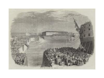 Filling the Napoleon Dock, Cherbourg--Giclee Print