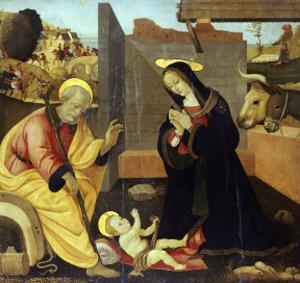 The Nativity by Fillippino Lippi