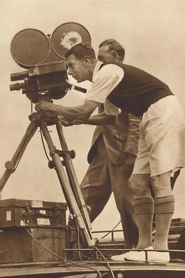 'Film-maker - Making a cinema record at one of his annual camps for boys', 1927 (1937)-Unknown-Photographic Print