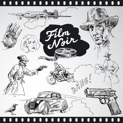 Film Noir - Hand Drawn Collection-canicula-Art Print