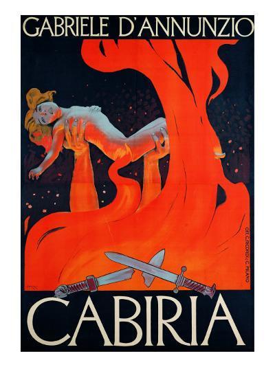 """Film Poster for """"Cabiria""""-Ippolito Caffi-Giclee Print"""