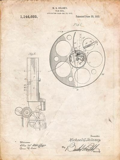 Film Reel 1915 Patent-Cole Borders-Art Print