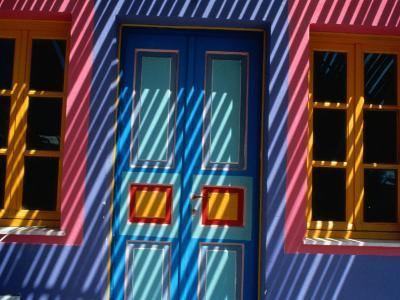 Filtered Sunlight on House, Greece-Izzet Keribar-Photographic Print