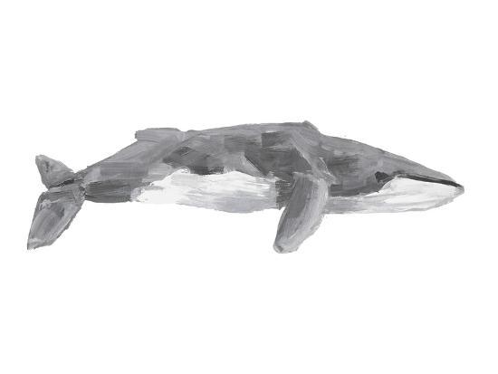 Fin Whale Painting Print-Jetty Printables-Art Print