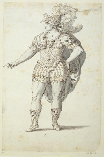 Final Design for Oberon's Dress, C.1611-Inigo Jones-Giclee Print