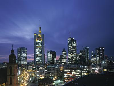 Financial District and Frankfurt Skyline, Germany-Jon Arnold-Photographic Print