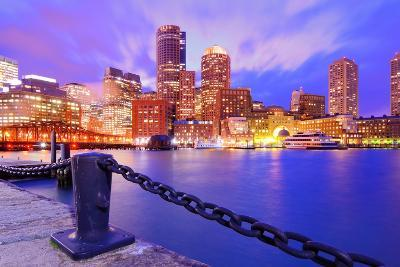 Financial District Of Boston, Massachusetts Viewed From Boston Harbor-SeanPavonePhoto-Photographic Print