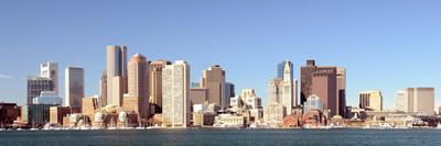 Financial District of Boston, Massachusetts Viewed from Boston Harbor.-SeanPavonePhoto-Photographic Print