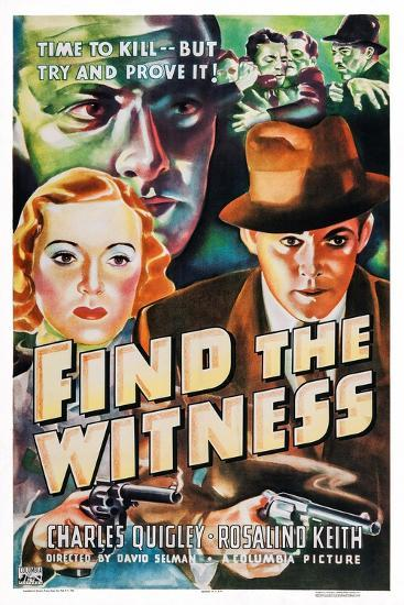 Find the Witness, Rosalind Keith, Charles Quigley, 1937--Art Print