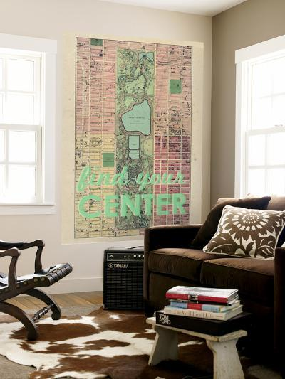 Find Your Center - 1867, New York City, Central Park Composite, New York, United States Map--Wall Mural