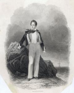 George Gordon Lord Byron English Poet in 1807 by Finden