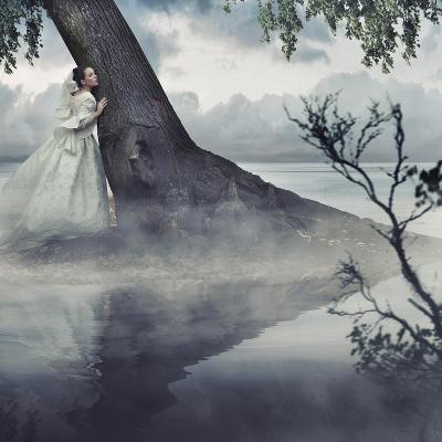 Fine Art Photo Of A Woman In Beauty Scenery-conrado-Art Print