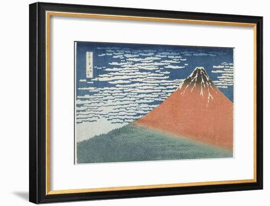 Fine Wind, Clear Weather, 1831-1834-Katsushika Hokusai-Framed Premium Giclee Print