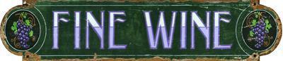 Fine Wine Wood Sign