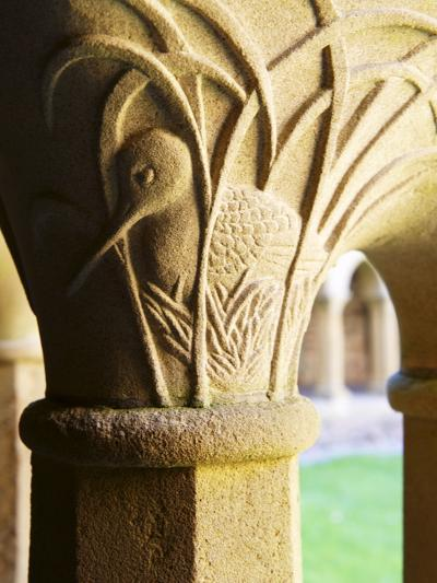 Finely Carved Capitals in the Cloisters, Iona Abbey, Isle of Iona, Scotland, United Kingdom, Europe-Patrick Dieudonne-Photographic Print