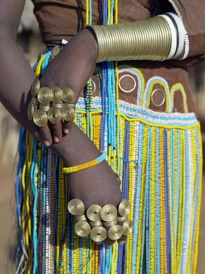 Finery of a Datoga Woman, Tanzania-Nigel Pavitt-Photographic Print